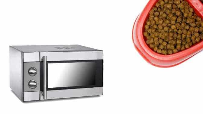 can cat food be microwaved
